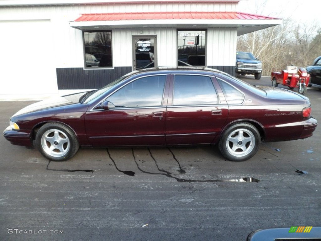 Dark Cherry Metallic 1996 Chevrolet Impala Ss Exterior