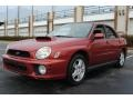 Sedona Red Pearl 2002 Subaru Impreza WRX Sedan Exterior