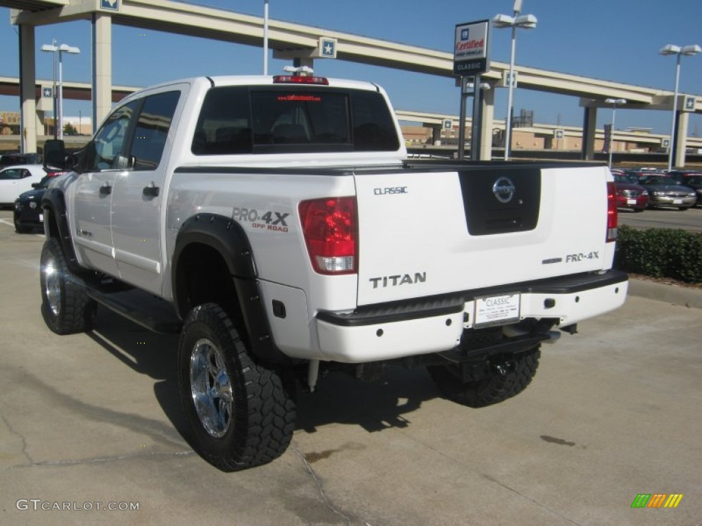 2011 blizzard white nissan titan pro 4x crew cab 4x4 59739317 photo 3 car. Black Bedroom Furniture Sets. Home Design Ideas