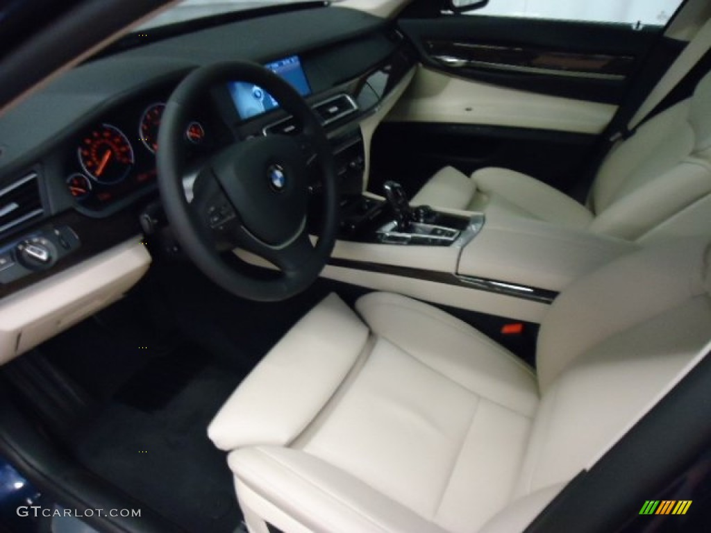 Oyster Black Interior 2012 BMW 7 Series 750i XDrive Sedan Photo 59750513