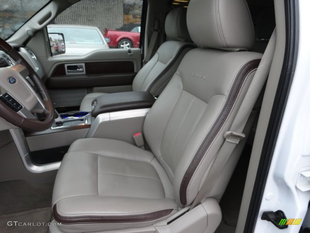Medium Stone Leather Sienna Brown Interior 2010 Ford F150