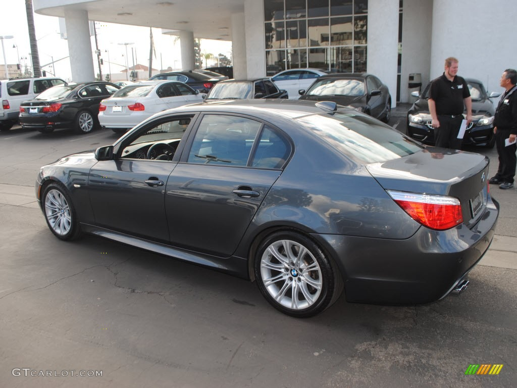 platinum grey metallic 2009 bmw 5 series 535i sedan. Black Bedroom Furniture Sets. Home Design Ideas