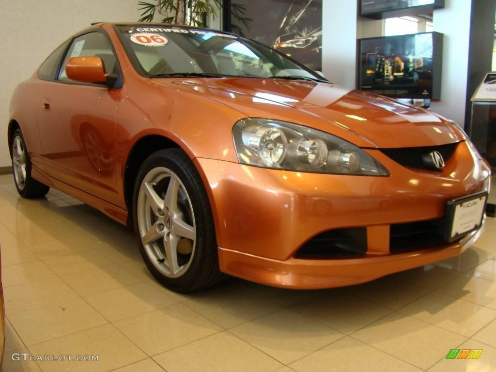 2006 Blaze Orange Metallic Acura Rsx Type S Sports Coupe