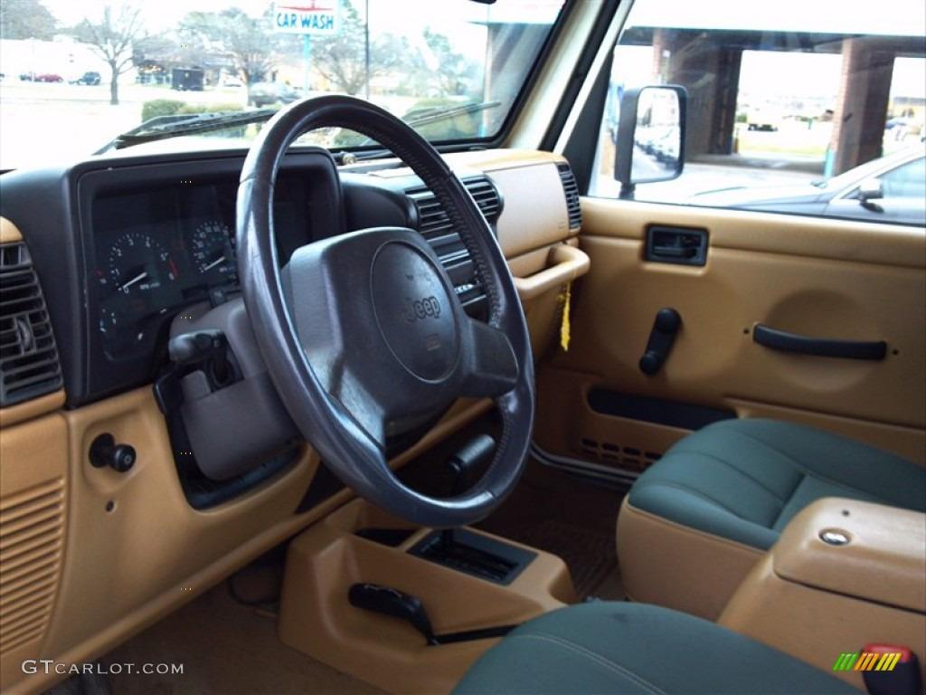 Green Khaki Interior 1998 Jeep Wrangler Sahara 4x4 Photo
