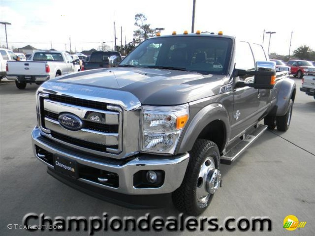 2012 sterling grey metallic ford f350 super duty lariat crew cab 4x4 dually 59738792 gtcarlot. Black Bedroom Furniture Sets. Home Design Ideas