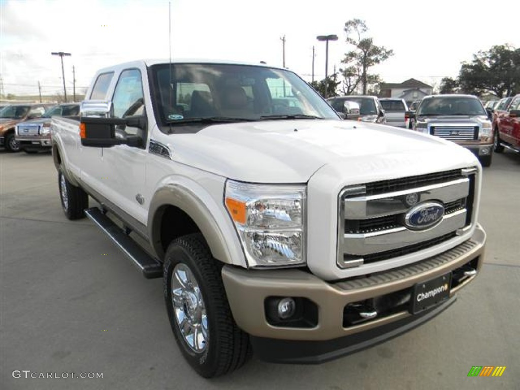 2012 white platinum metallic tri coat ford f350 super duty king ranch crew cab 4x4 59738791. Black Bedroom Furniture Sets. Home Design Ideas