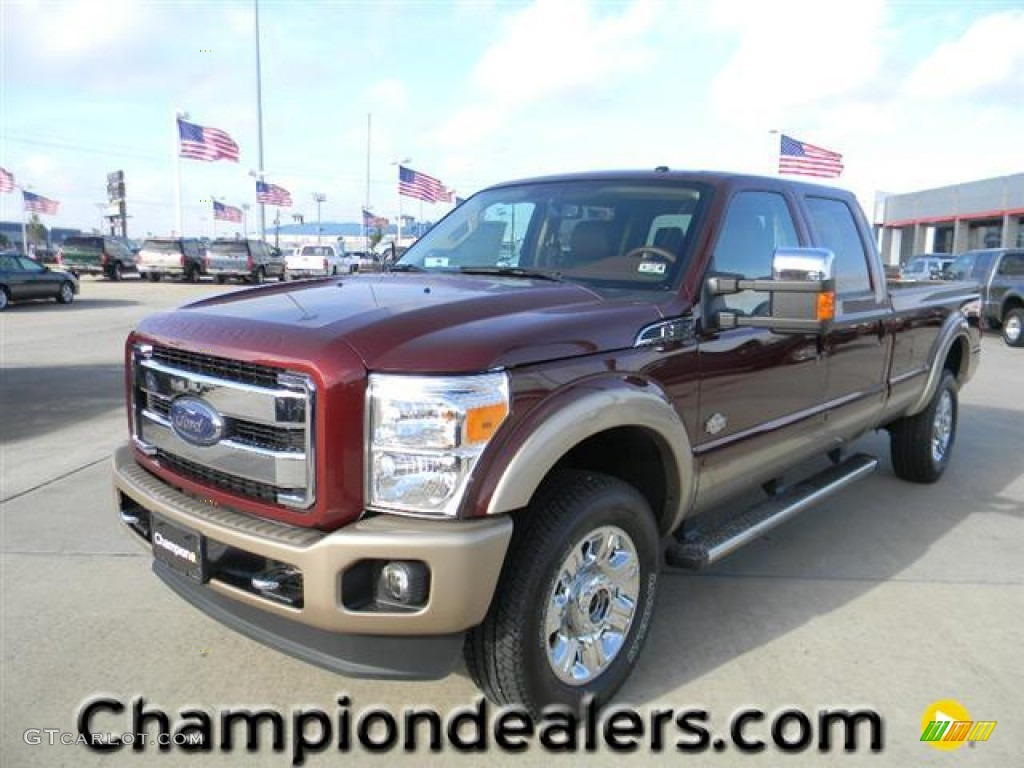 2012 autumn red ford f350 super duty king ranch crew cab 4x4 59738788 car. Black Bedroom Furniture Sets. Home Design Ideas