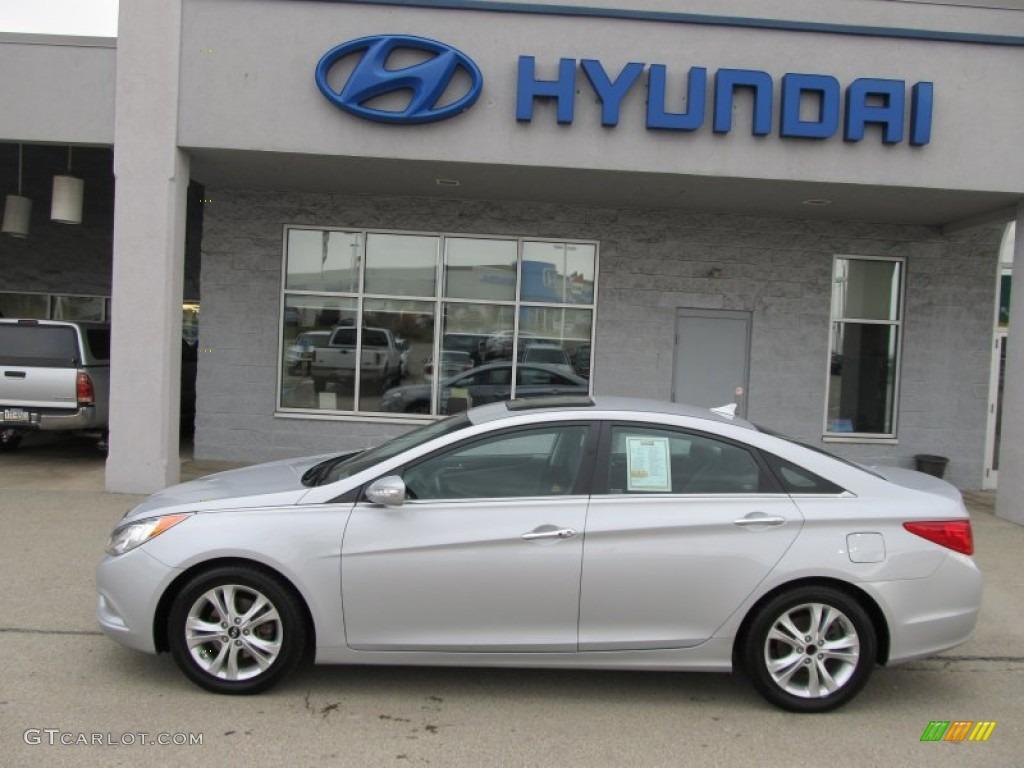 Radiant Silver 2011 Hyundai Sonata Limited Exterior Photo