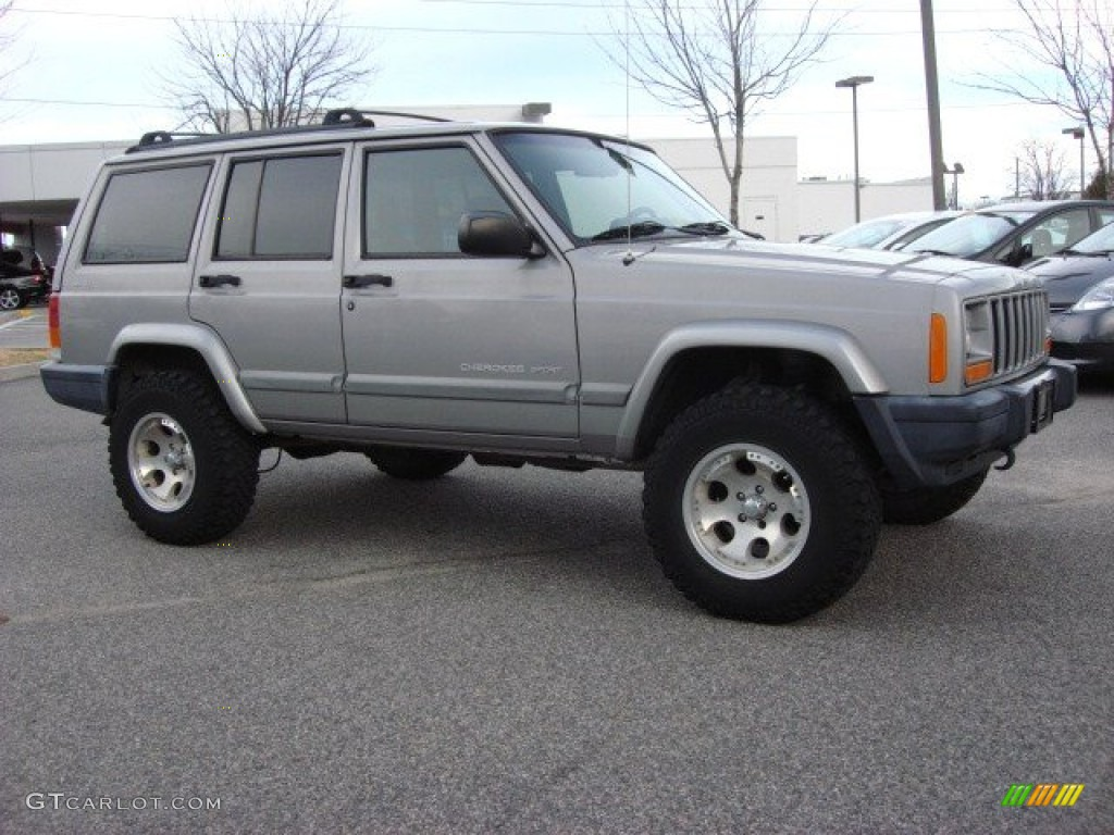 silverstone metallic 2001 jeep cherokee sport 4x4 exterior photo. Cars Review. Best American Auto & Cars Review