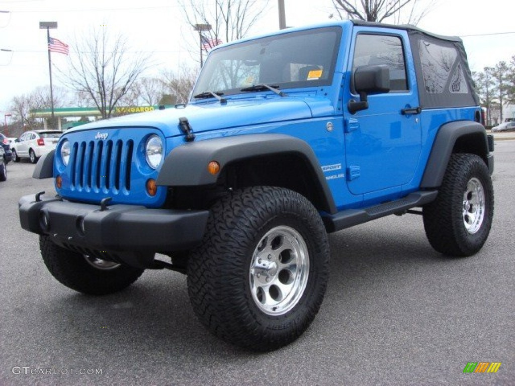 Cosmos Blue 2011 Jeep Wrangler Sport 4x4 Exterior Photo