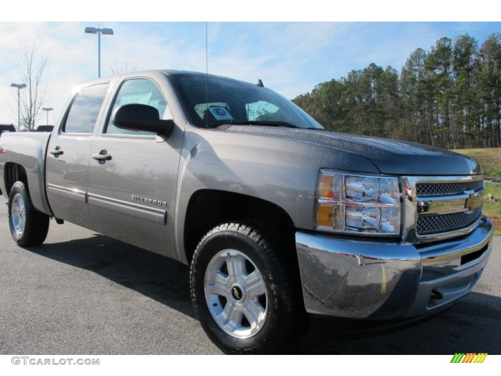 2012 Silverado 1500 LT Crew Cab - Graystone Metallic / Ebony photo #1