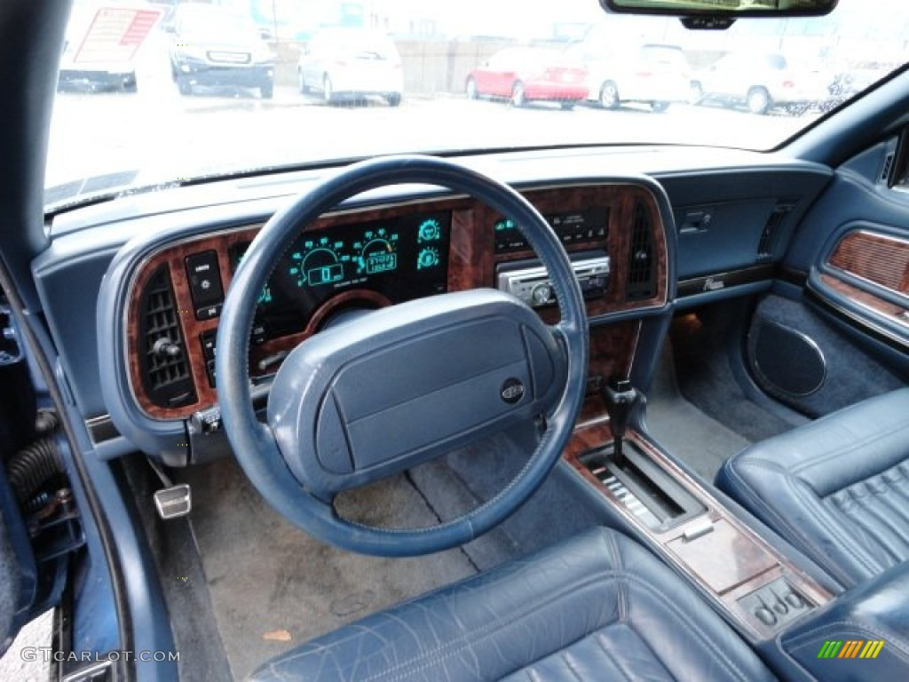 Blue Interior 1990 Buick