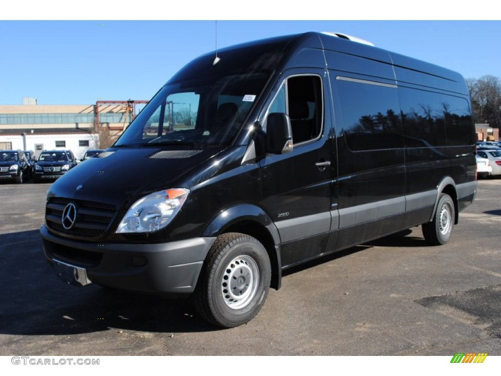 Jet black 2012 mercedes benz sprinter 2500 high roof for Mercedes benz sprinter passenger