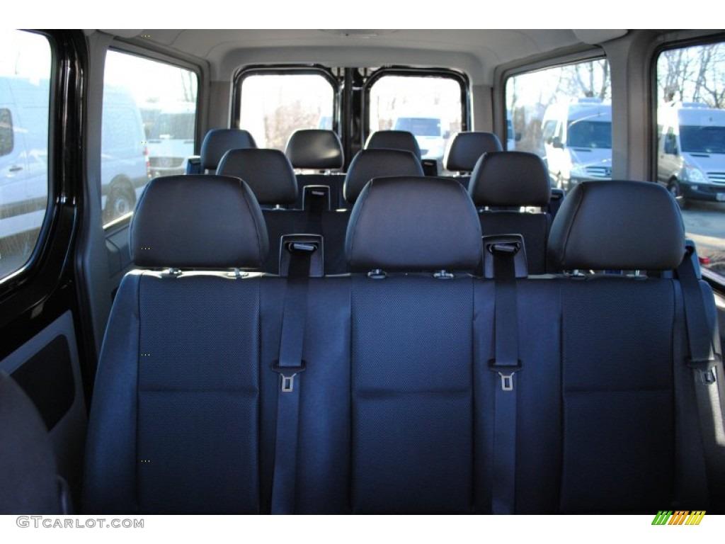 Black Leatherette Interior 2012 Mercedes Benz Sprinter 2500 Passenger Van Photo 59844627