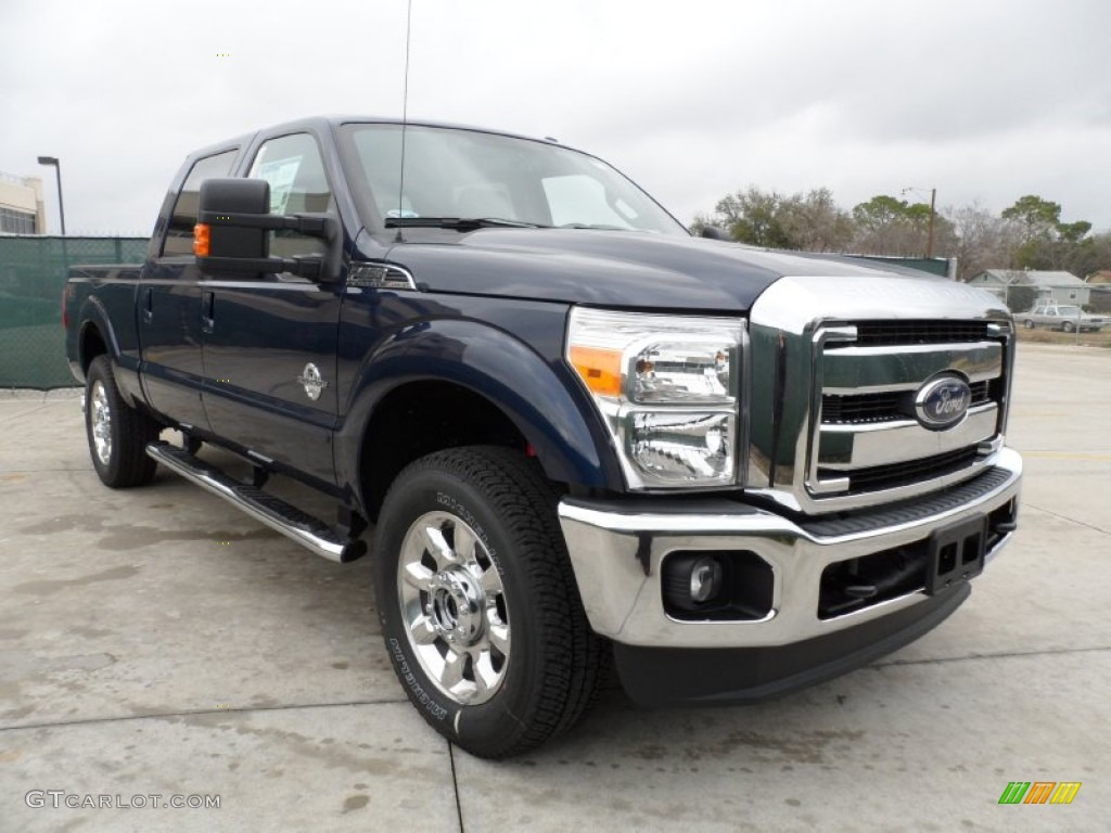 2012 dark blue pearl metallic ford f250 super duty lariat crew cab 4x4 59797390. Black Bedroom Furniture Sets. Home Design Ideas