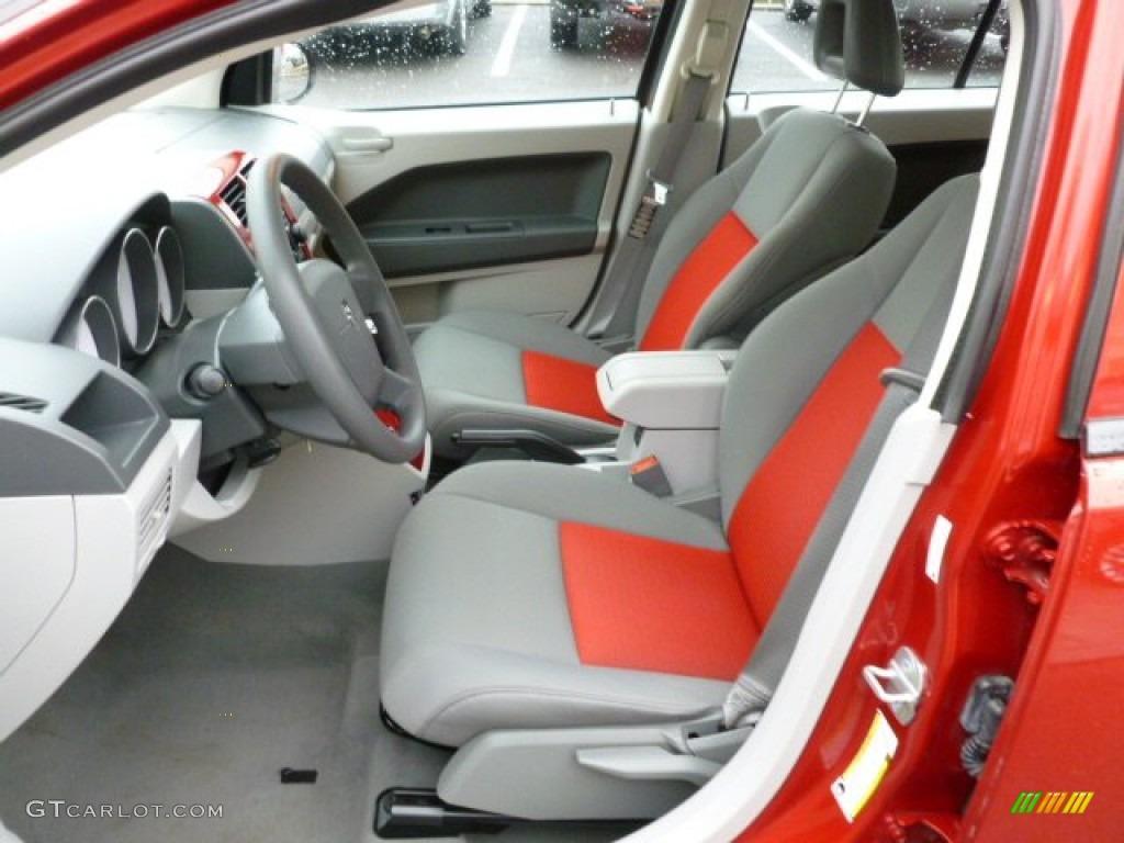 Pastel Slate Gray Red Interior 2007 Dodge Caliber Sxt Photo 59850220