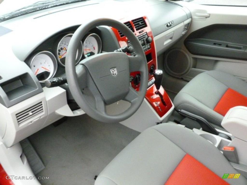Pastel Slate Gray Red Interior 2007 Dodge Caliber Sxt Photo 59850286