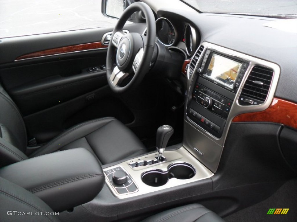 black interior 2012 jeep grand cherokee limited 4x4 photo 59852044. Black Bedroom Furniture Sets. Home Design Ideas