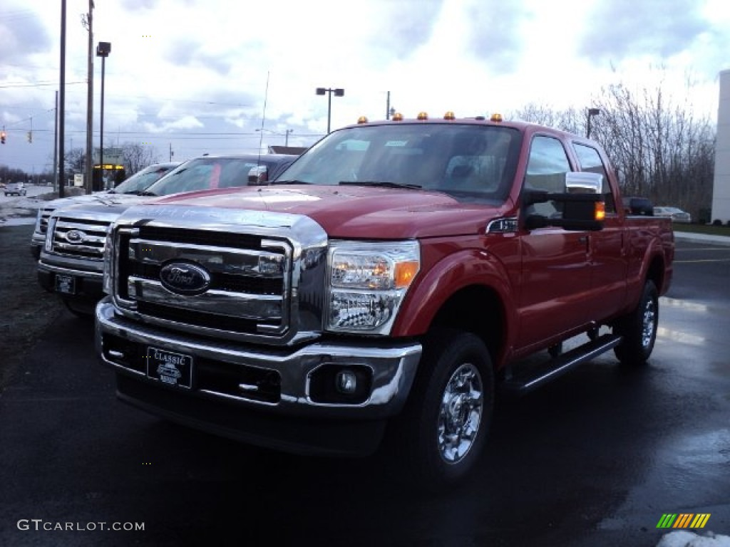 Vermillion Red Ford F250 Super Duty