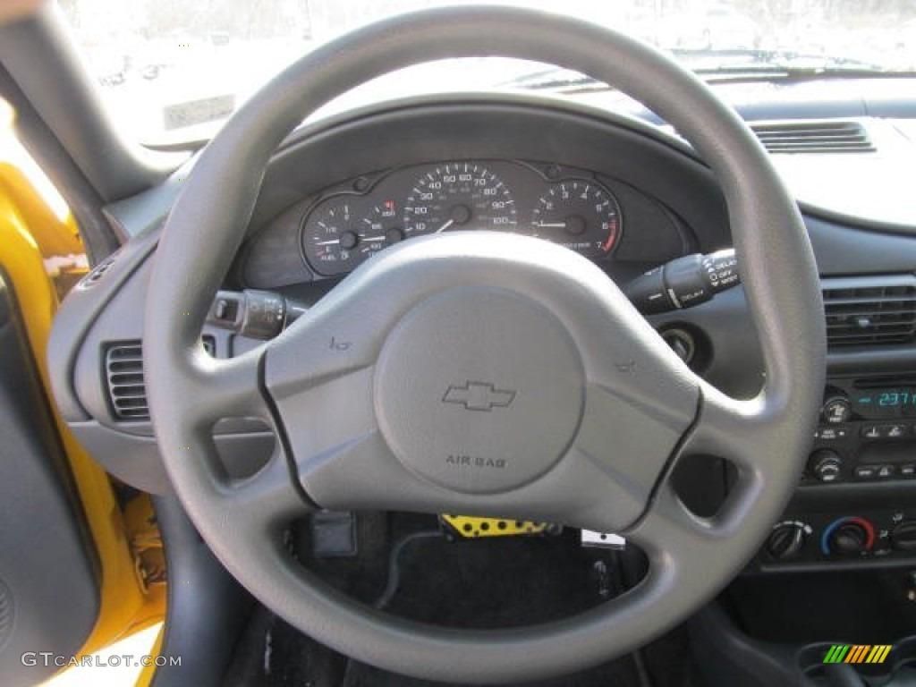 2003 Chevrolet Cavalier LS Coupe Graphite Gray Steering Wheel Photo #59872670