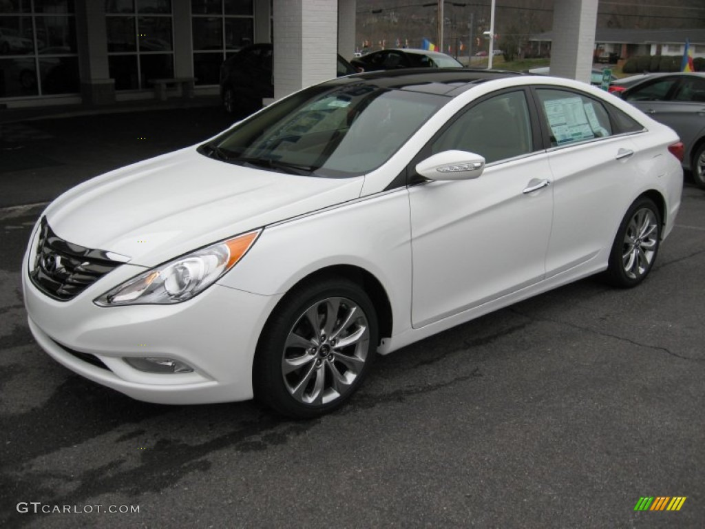 2012 shimmering white hyundai sonata limited 2 0t 59859682 photo 2 car color. Black Bedroom Furniture Sets. Home Design Ideas