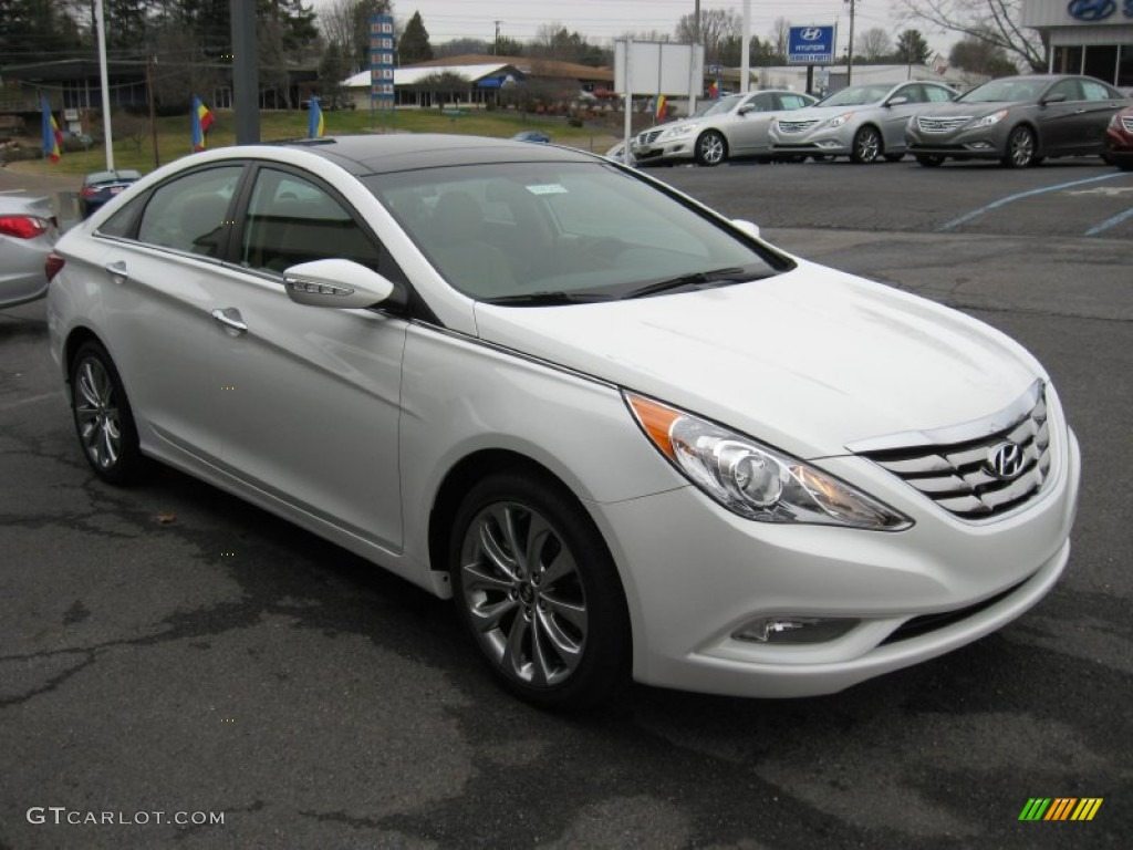 2012 shimmering white hyundai sonata limited 2 0t 59859682 photo 4 car color. Black Bedroom Furniture Sets. Home Design Ideas