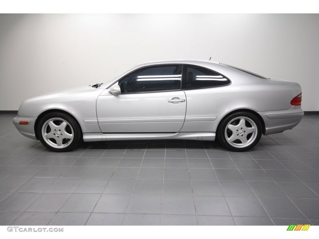 brilliant silver metallic 2002 mercedes benz clk 430 coupe. Black Bedroom Furniture Sets. Home Design Ideas