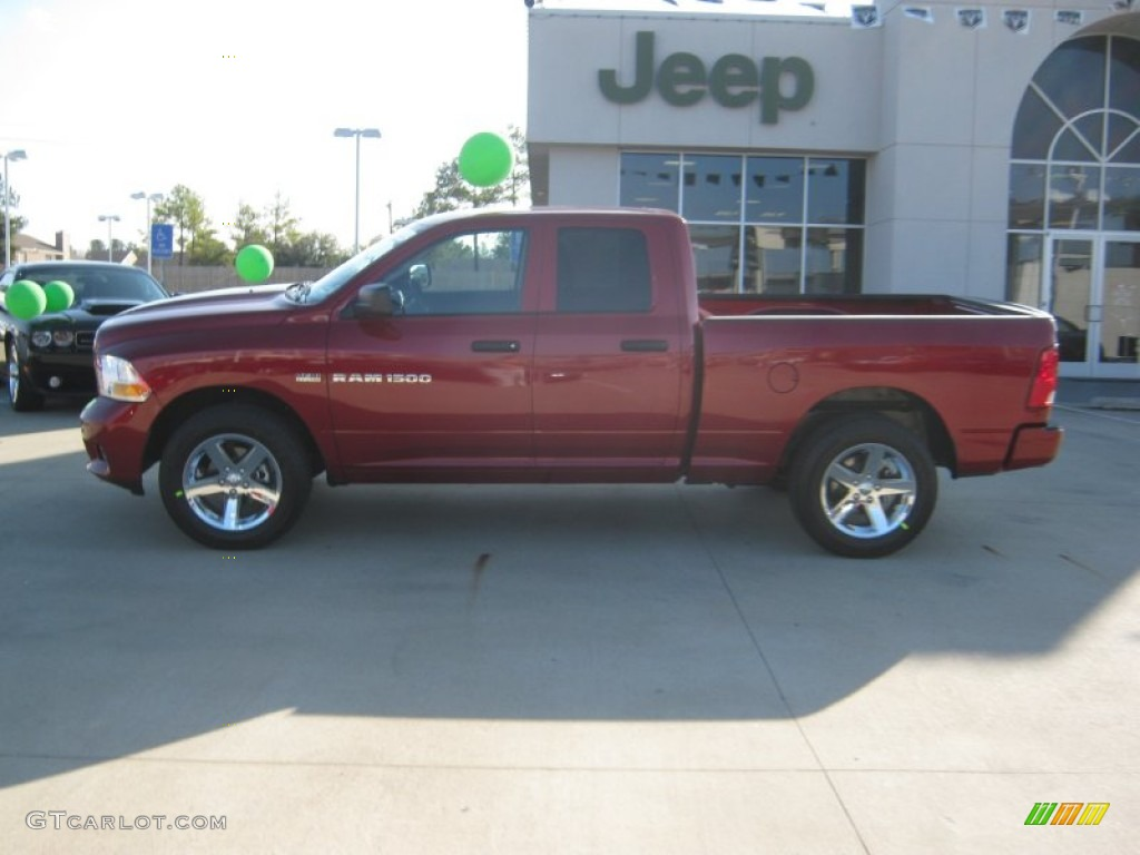 2012 Deep Cherry Red Crystal Pearl Dodge Ram 1500 Express Quad Cab