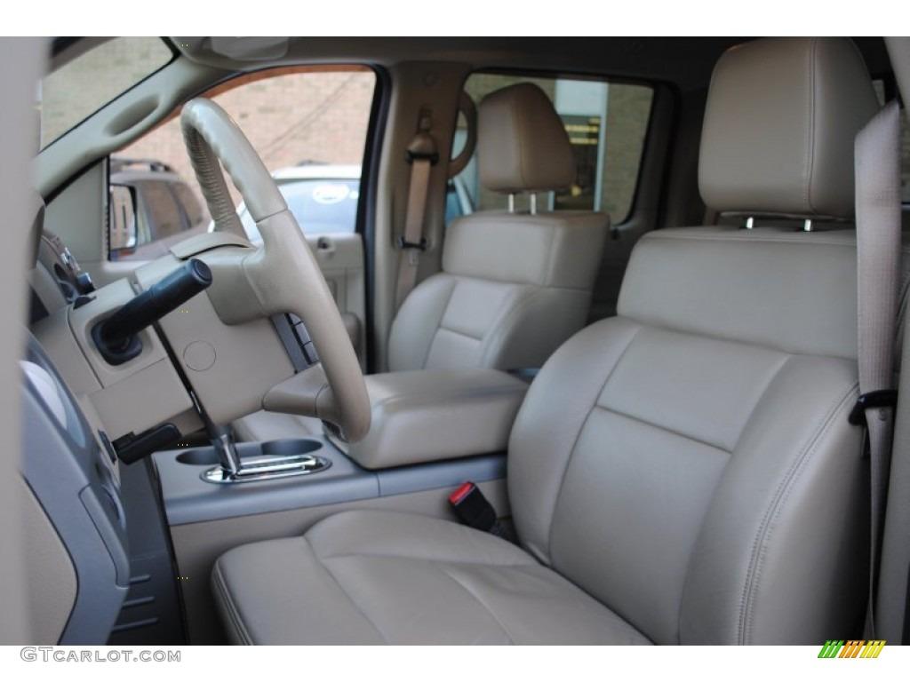 tan interior  ford  lariat supercrew  photo  gtcarlotcom