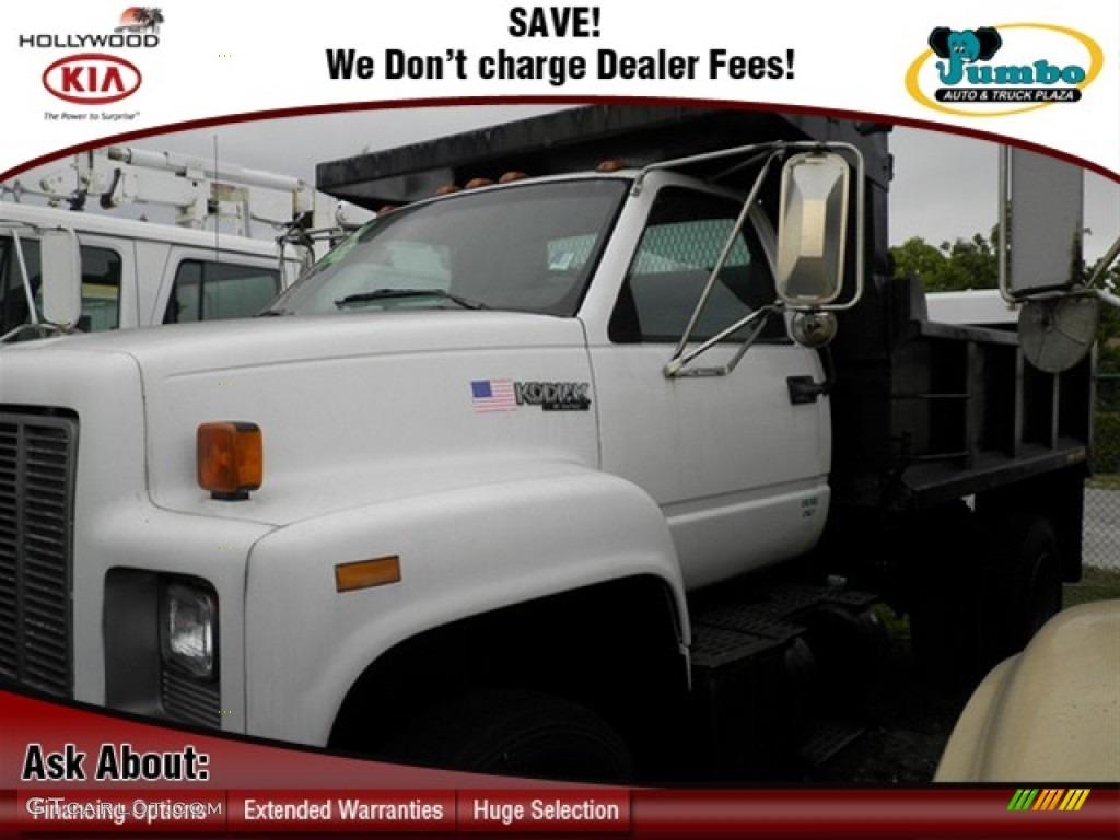 1994 C Series Kodiak Regular Cab Dump Truck - Summit White / Pewter photo #1