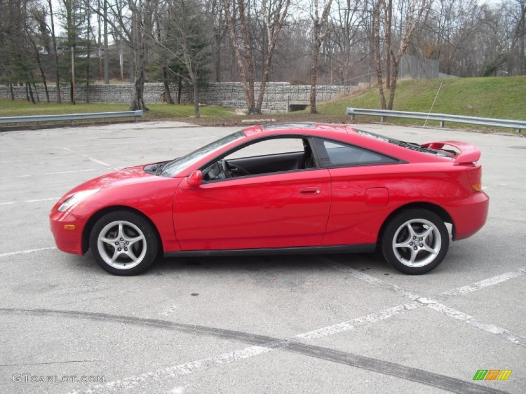 absolutely red 2000 toyota celica gt s exterior photo. Black Bedroom Furniture Sets. Home Design Ideas