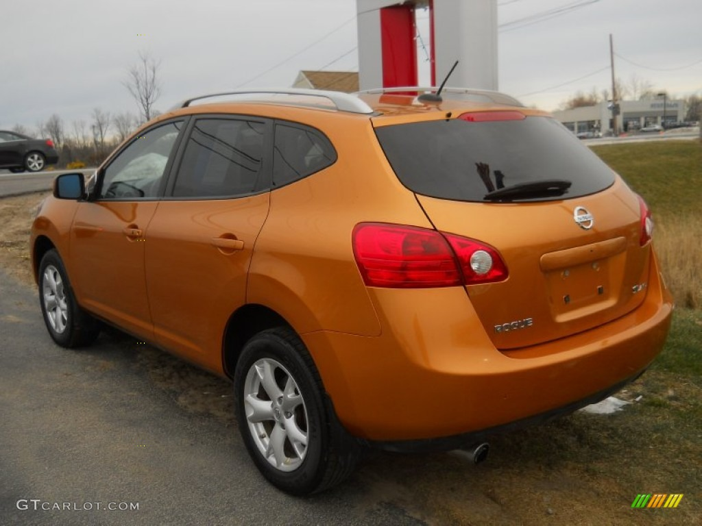 orange alloy metallic 2008 nissan rogue sl awd exterior. Black Bedroom Furniture Sets. Home Design Ideas