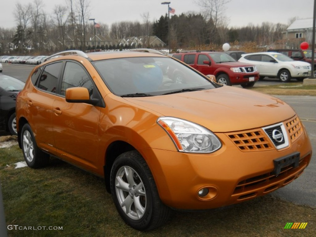 Orange Alloy Metallic 2008 Nissan Rogue Sl Awd Exterior