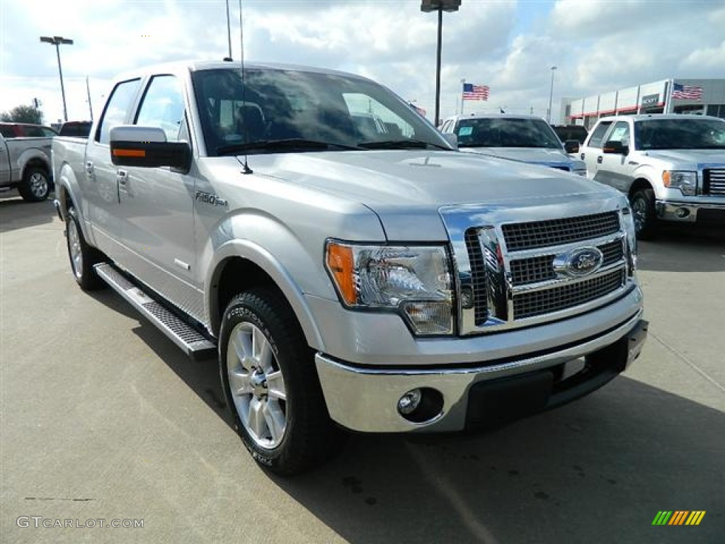 2012 ingot silver metallic ford f150 lariat supercrew 59859287 photo 3 car. Black Bedroom Furniture Sets. Home Design Ideas