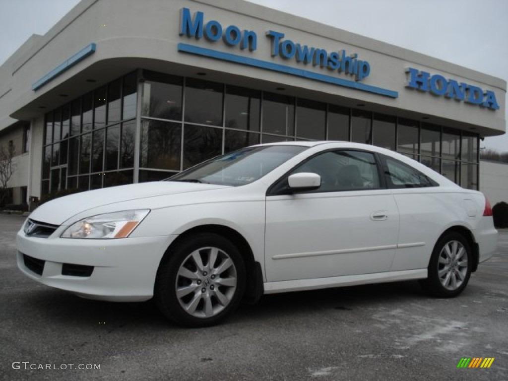 2007 Taffeta White Honda Accord Ex V6 Coupe 59859954