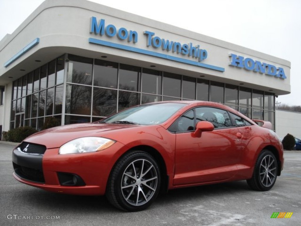 2010 Sunset Orange Pearlescent Mitsubishi Eclipse GS Sport Coupe ...