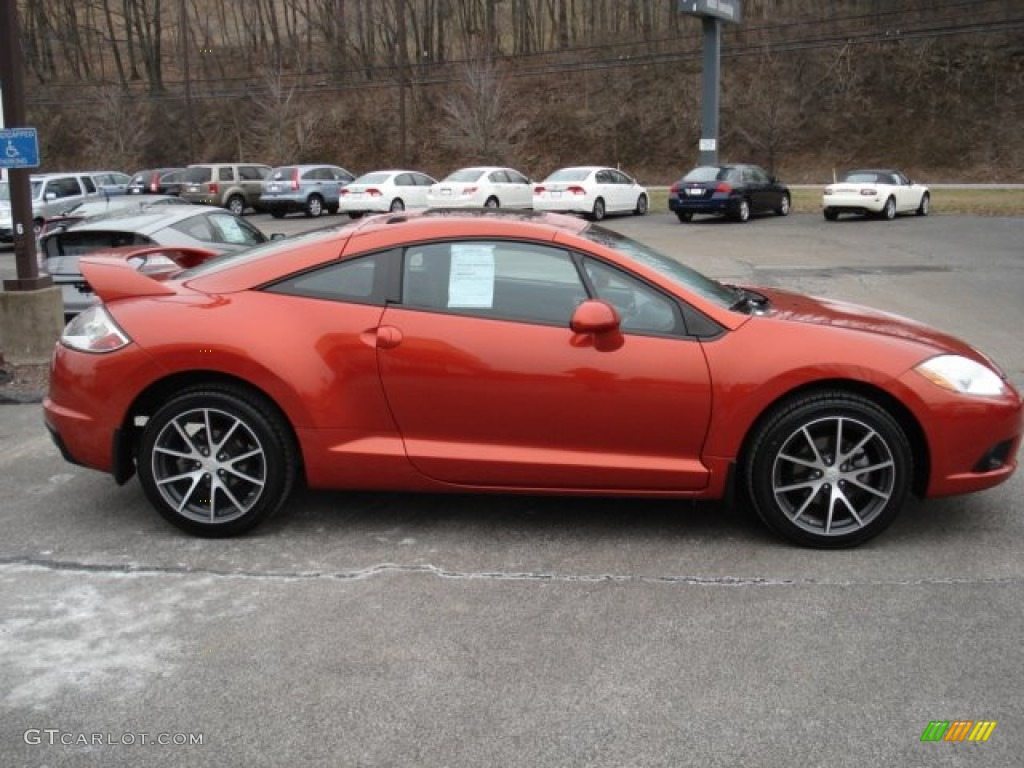 2010 Sunset Orange Pearlescent Mitsubishi Eclipse Gs Sport