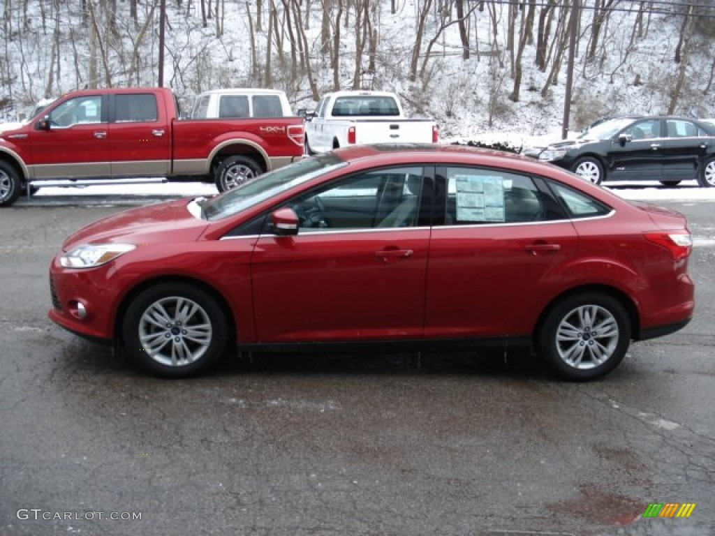 Red Candy Metallic 2012 Ford Focus Sel Sedan Exterior