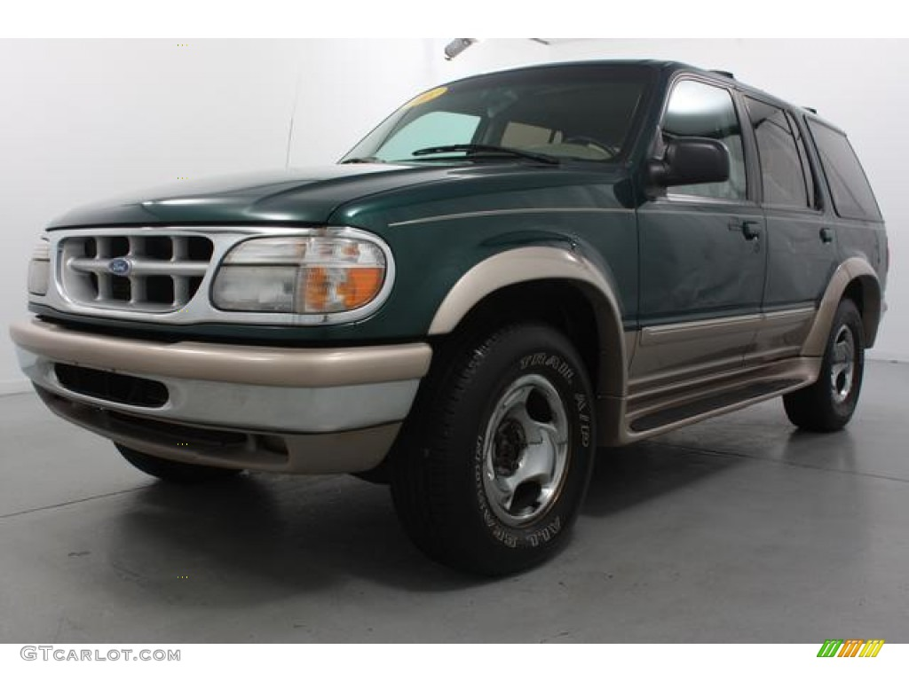 1997 deep jewel green pearl ford explorer eddie bauer 4x4 59859176 car color. Black Bedroom Furniture Sets. Home Design Ideas