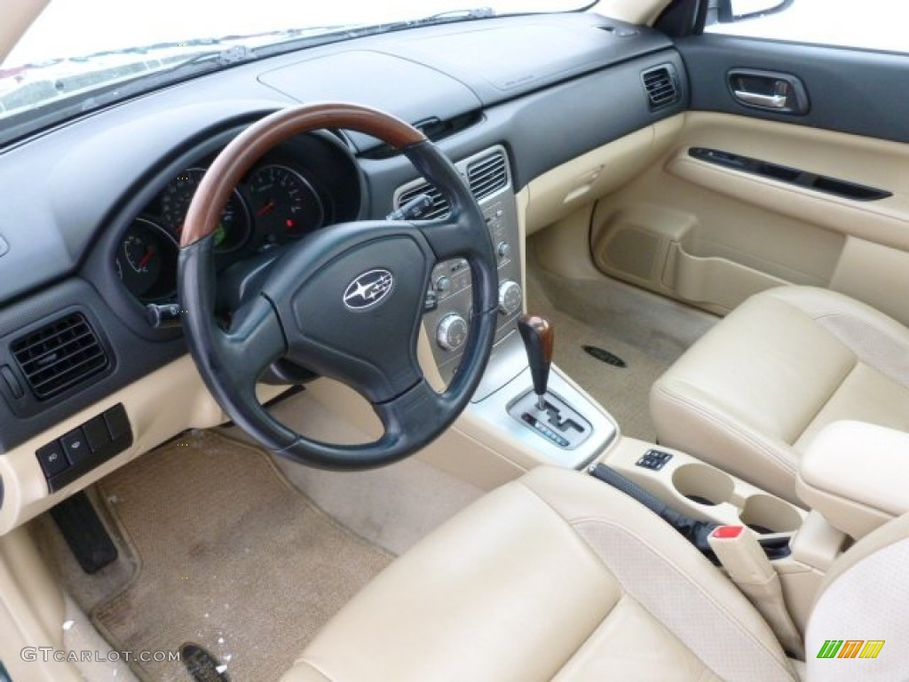Desert beige interior 2007 subaru forester 2 5 x l l bean for Interior pics