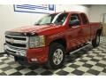 2009 Victory Red Chevrolet Silverado 1500 LT Extended Cab 4x4  photo #1