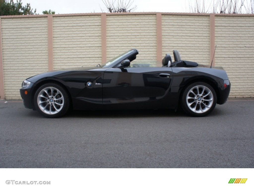 2005 z4 2 5i roadster black sapphire metallic black photo 3