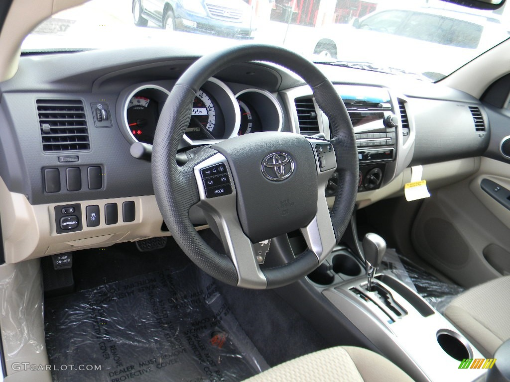 sand beige interior 2012 toyota tacoma prerunner double. Black Bedroom Furniture Sets. Home Design Ideas