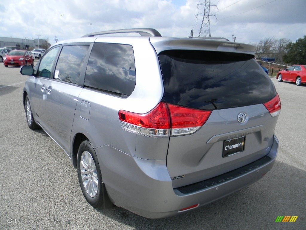 2012 Sienna XLE - Silver Sky Metallic / Light Gray photo #7