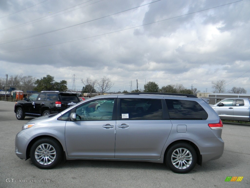 2012 Sienna XLE - Silver Sky Metallic / Light Gray photo #8