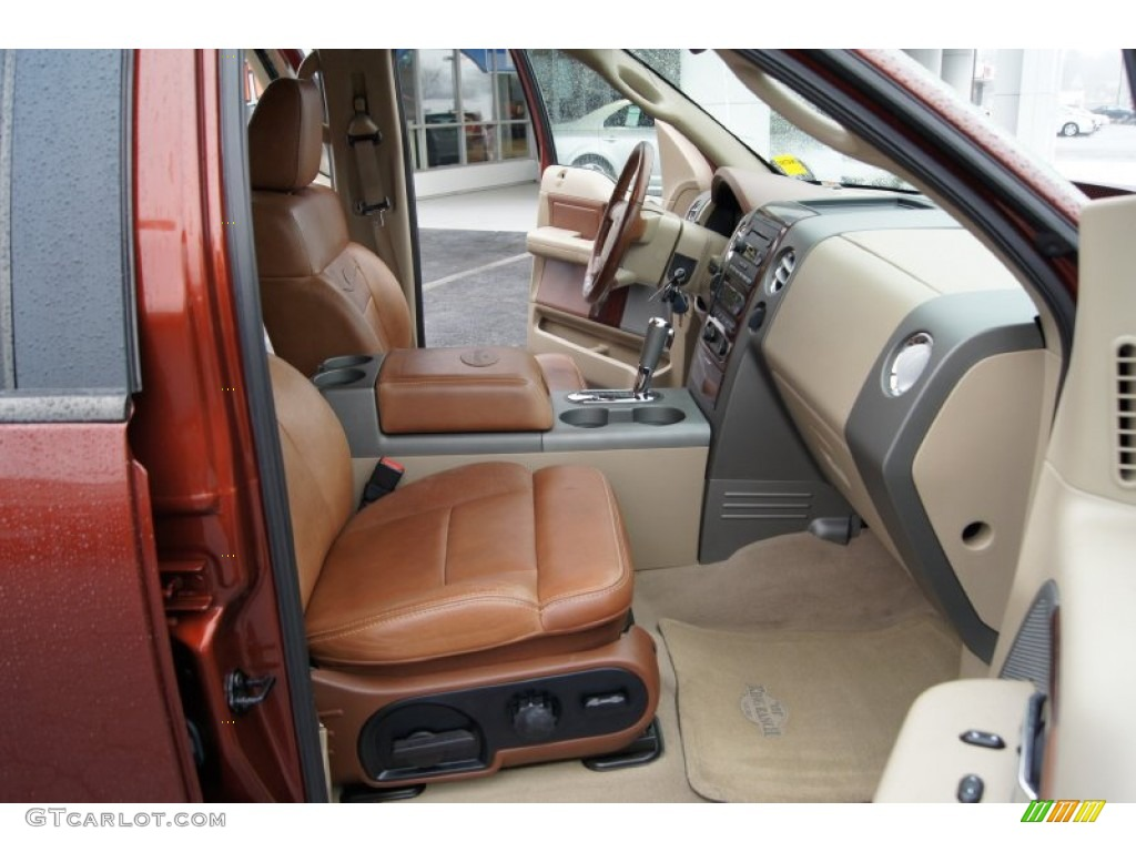 Castano Brown Leather Interior 2005 Ford F150 King Ranch Supercrew 4x4 Photo 60015595