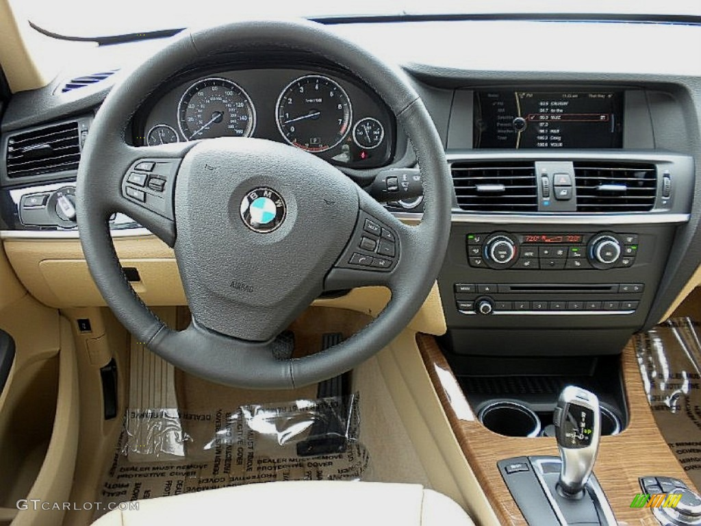 2012 bmw x3 xdrive 28i sand beige dashboard photo 60026171. Black Bedroom Furniture Sets. Home Design Ideas