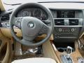 2012 BMW X3 Sand Beige Interior Dashboard Photo
