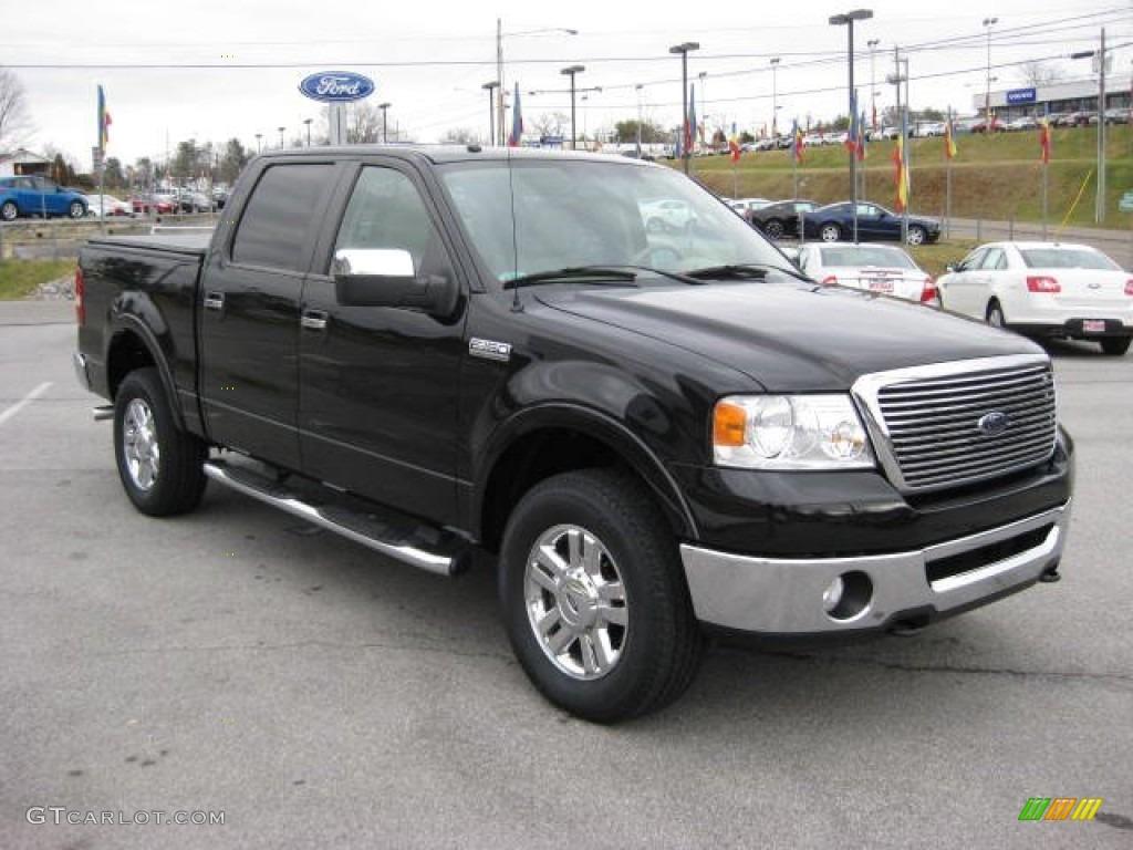 black 2008 ford f150 lariat supercrew 4x4 exterior photo 60026729. Black Bedroom Furniture Sets. Home Design Ideas