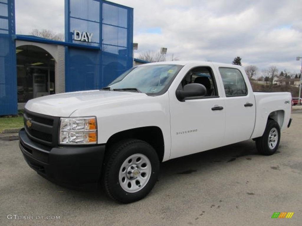 2012 Silverado 1500 Work Truck Crew Cab 4x4 - Summit White / Dark Titanium photo #1